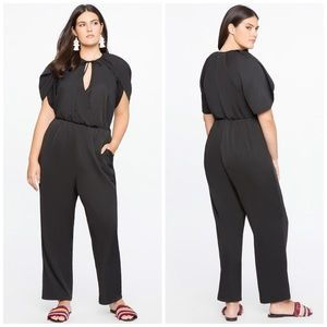 Eloquii Wrapped Sleeve Jumpsuit